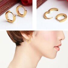 Gold Color Ear Stud Stainless Steel Huggies Hoop Earrings For Men And Women
