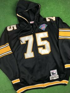 Joe Greene #75 Pittsburgh Steelers Jacket Hood SZ 4XL Mitchell & Ness Throwback