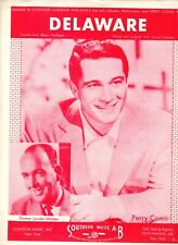 Sheet Music & Lyrics - Perry Como - Delaware