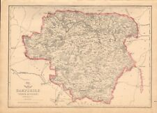 1863 Large Antique Map - Dispatch Atlas- Hampshire, North Division