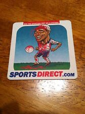 Beermat/ Sports Direct.com Featuring Cartoon Pic of Paul Ince(England)