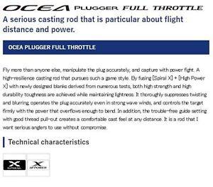 Shimano Rod Spinning Ocea Plugger Full Throttle S88H 372482