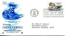 1980 AIR MAIL 35 CENT GLENN CURTIS ART CRAFT/PCS CACHET MACHINE ADDRESSED FDC