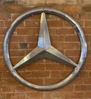 Huge Aluminium Wall Sign - MERCEDES BENZ - Car Logo - 100cm x 100cm