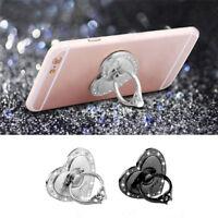 Crystal Heart Shape Stand Holder Bling Diamond Finger Ring For Cell Phone New x1