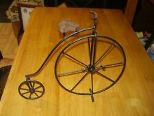 "Victorian Style Bicycle Art Home Decor 11"" High x 14"" Long Hanging /Table Metal"