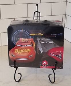 Disney Pixar CARS 24 Piece Jigsaw Puzzle New / Sealed In Lunchbox Tin
