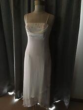 Size 10 White Chiffon Bridal Debutante Wedding Destination Gown