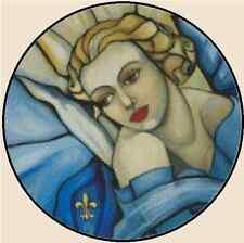Cross Stitch Chart BLUE EVENING by Coco de Jardin - No.25-102 (Large Print)