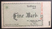 Lodz Litzmannstadt Germany Ghetto Currency 1 Pfennings KZ Unc 1940