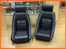 Pair BB1 RS Classic BLACK Retro Sports Racing Bucket Seats Universal Design