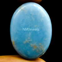 Cts. 37.75 Natural Blue Angelite Cabochon Oval Cab Loose Exclusive Gemstone