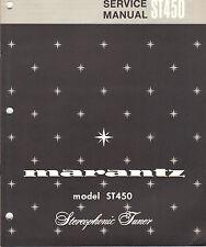 Marantz Service Manual ST450 stereo tuner receiver Original Factory Repair Book