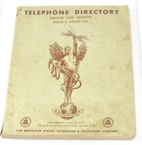 1941 Denver & Vicinity Mountain States Telephone & Telegraph Co. Direct