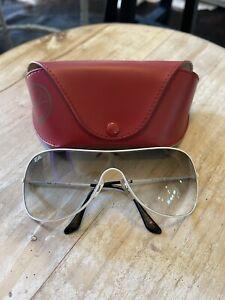 Ray-Ban RB3211 Unisex 032/8G Sunglasses White w/ Gradient Lens Vintage