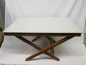 Vintage Mid Century 60's 70's Formica Top Folding Small Table. Ideal Camping.