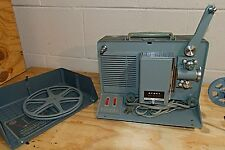 VINTAGE ARGUS M-500 8MM Portable Movie Film Projector + editor