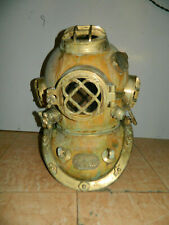 Antique Copper Morse Diving Helmet Brass Scuba Boston SCA Divers Deep Divers