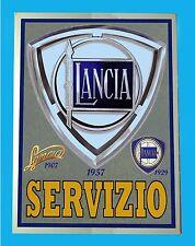 LANCIA SERVIZIO 1957  - TARGA  METALLO - RIPR. D' EPOCA