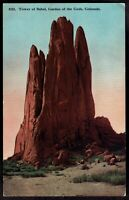 Colorado, Garden of the Gods Tower of Babel unused lithographed Postcard co15