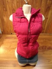 AMERICAN EAGLE Puff Vest Zip Up Pink Polyester Womens Medium