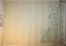Vintage USGS Map Little Girl Point, MI - WI 1940