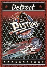 Detroit Pistons NBA Basketball 48x60 Triple Woven Jacquard Blanket by Northwest