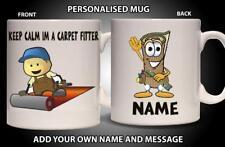 Personalised Mug CARPET FITTER Ceramic Cup Builder Gift Him Dad Grandad Fathers