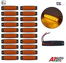 20 x 24v LED Lateral Marcador Naranja Ámbar LUCES PARA EL CARRO MAN DAF SCANIA