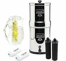 Big Berkey Filter System w/ 2 Black Berkey & 2 PF-2 Fluoride Filters & Pitcher
