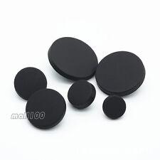 12pcs Matte Black Round Metal Shank Buttons Sewing Shirt Coat Craft 10mm 25mm