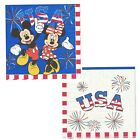 MICKEY & MINNIE MOUSE PATRIOTIC USA DOUBLE-SIDED LUNCH NAPKINS (20)~ 4th Of July