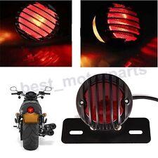 BLACK MOTORCYCLE BRAKE REAR TAIL STOP SAFETY SIGNAL LIGHT LAMP FOR HARLEY BOBBER