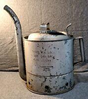Rare Vintage Brookins Oil Dispenser 1-1/4 Gallon, operational downspout