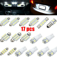 17PC White LED Interior Package Kit Map Dome License Plate Light Easy to install
