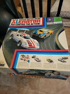 Vintage 1972 Aurora Xlerator Controlled Slotless Electric Car Racing
