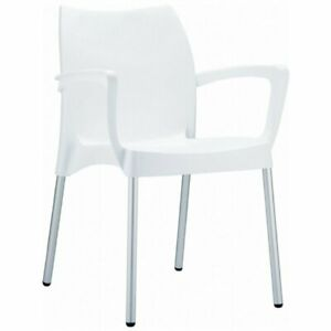 Compamia Dolce Resin Outdoor Arm Chair in White