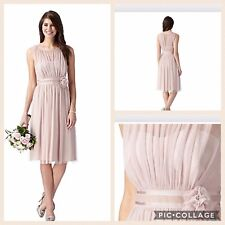 Debut/Debenhams Blush Pink Corsage Bridesmaid/prom Dress Size 14