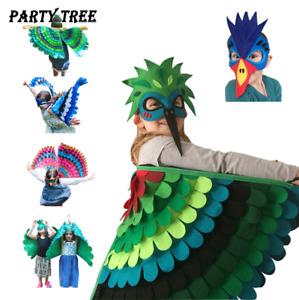 Kinder Mädchen Schmetterling Vogel Wings Umhang Mantel Cosplay Kostüm + Maske