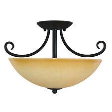 Oil Rubbed Bronze Semi-Flush Mount Ceiling Light Fixture #164177