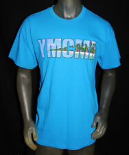 NEW YMCMB YOUNG MONEY men BEACH LOGO short sleeve crewneck TShirt blue *LARGE