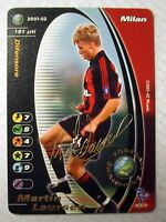 CARDS GAME FOOTBALL CHAMPIONS CARTE MILAN MARTIN LAURSEN 2001/02 NEW!!