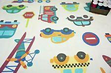 Suave Tela de tapicería Guardería Niños Vehículos Autos Trenes por medio metro de #73