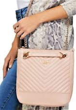 NWT GUESS STARLETT HANDBAG Large Blush Pink Logo Crossbody Shoulder Bag GENUINE