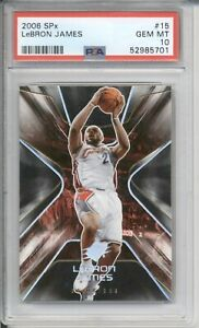 2006 Upper Deck SPx LEBRON JAMES #15 PSA 10 GEM MINT Cleveland Cavaliers Card