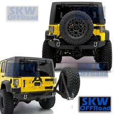 Rock Crawler Rear Bumper+Tire Carrier+Hitch Receiver fit 07-17 Jeep JK Wrangler