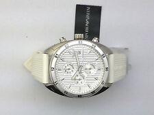 Emporio Armani AR5929 Mens Silver Textured Dial Chronograph Watch