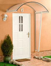 Alu Seitenblende für Vordach Rondo weiß mit 4,5 mm PC Stegplatten Eindeckung