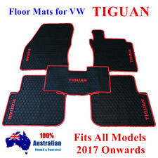 Waterproof Rubber Floor Mats Tailor Made For Volkswagen Tiguan 2017 2020 Red