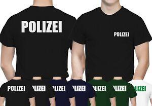 Polizei T-Shirt Herren - TShirt für Polizei - 100% Baumwolle Premium Qualität